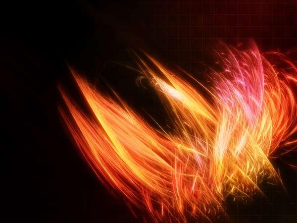 Combustion - beautiful orange swirls wallpaper