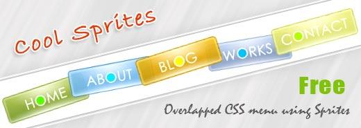 Cool Sprites – Free overlapped CSS menu using CSS Sprites