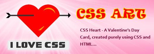 CSS Heart – A web designer way of wishing Valentine's Day…