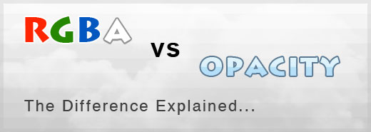 RGBa vs Opacity: Difference between two CSS3 properties explained with examples...