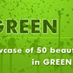 showcase of 50 beautiful website designs in green color theme