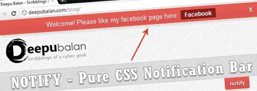 pure css notification bar