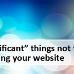 things not to forget while designing a website