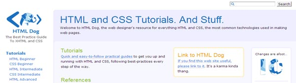 Beginner level tutorials on HTML & CSS