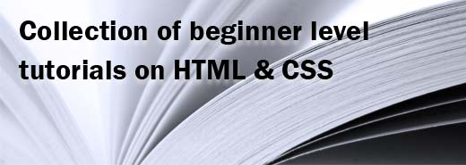 beginner level tutorials on html css tutorials