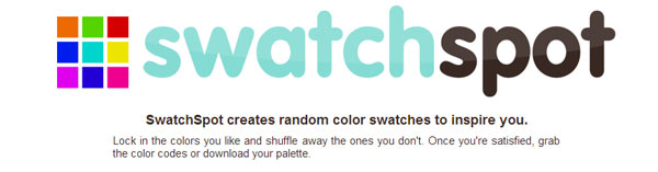 Swatchspot - SwatchSpot creates random color swatches to inspire you.
