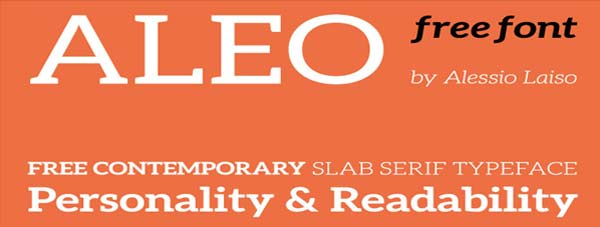 ALEO  Free Font Family on Behance