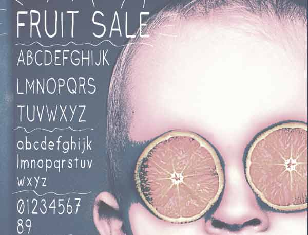 Fruit Sale FREE Type Face on Behance