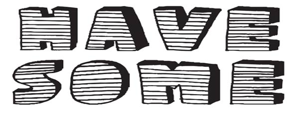 stripe 3D font