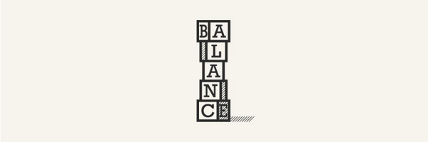 Typographic Logo Design of Balance