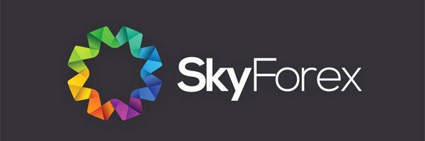 Logo design of a financial consultancy SkyForex (forex broker)