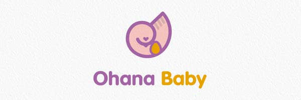 Logo design for Ohana Baby, a maternity services company