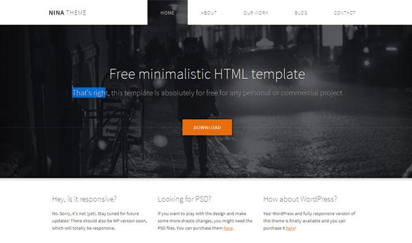 nina-minimalist-template
