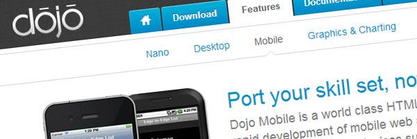 dojo web app framework