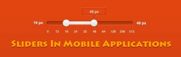 sliders in mobile apps