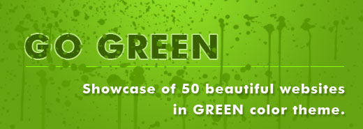 Go Green – Showcase of 50 beautiful websites in green color theme