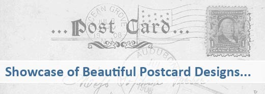 Showcase of beautiful postcard designs